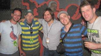 w/ FX's The League at Bonnaroo 2011 - (L-R) Nick Kroll, Paul Scheer, Jon Lajoie, Stephen Rannazzisi,